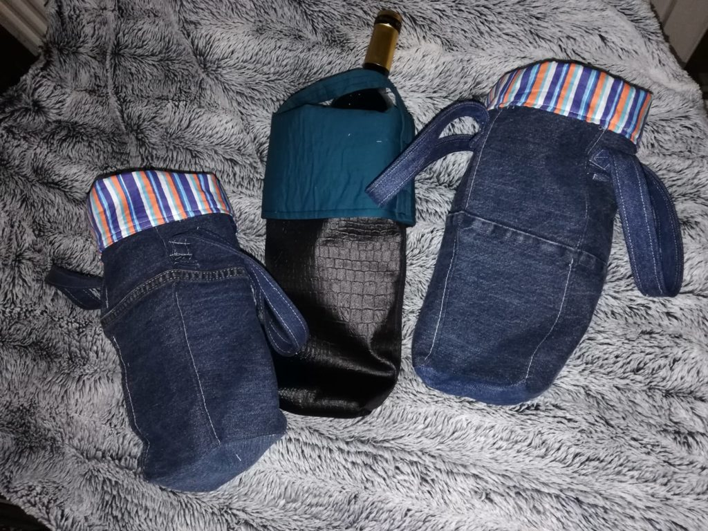 Les furoshikis pour emballer des bouteilles
