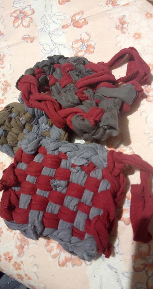 chaussettes transformées en tawashi