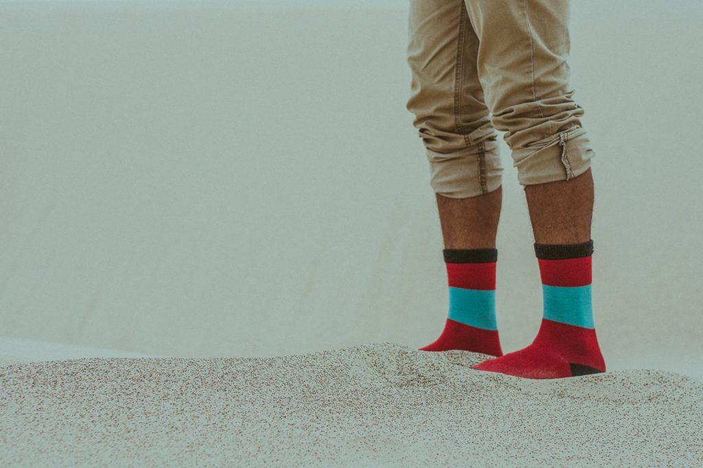 recyclage des chaussettes